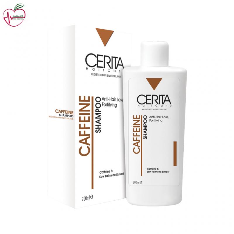 شامپو تقویت کننده و ضد ریزش سریتا حاوی کافئین مناسب انواع مو 200ml