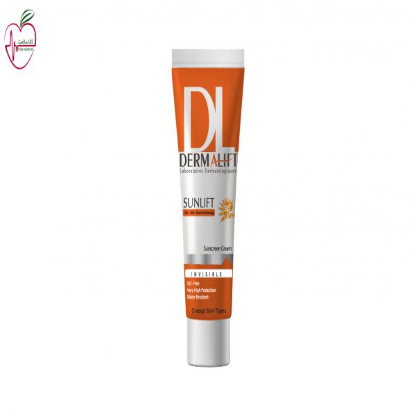 کرم ضد آفتاب SPF50 درمالیفت مناسب پوست چرب غیر رنگی 40ml