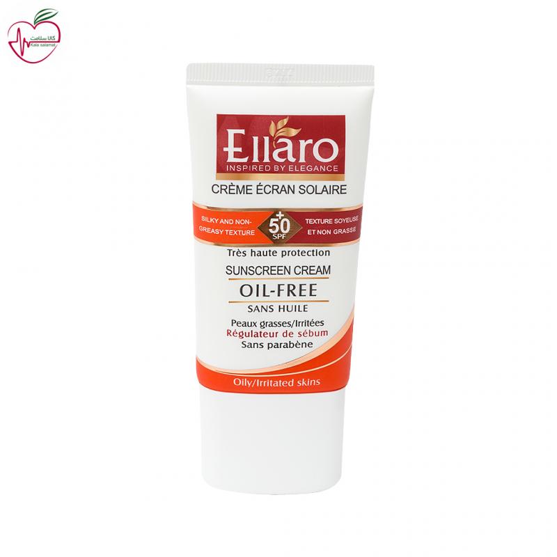 کرم ضد آفتاب SPF50 الارو بدون رنگ مناسب پوست های چرب 40ml